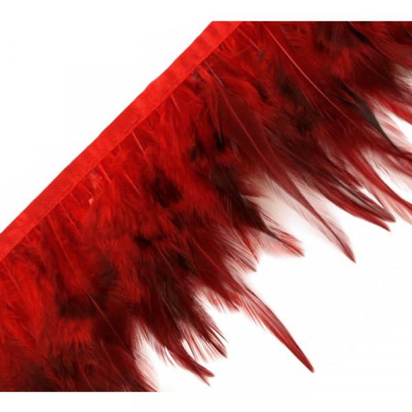 Federborte Hahn Rot 12cm