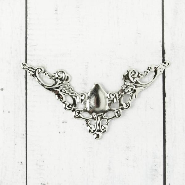 10/50 Biegsame Metallecken Silber 57mm