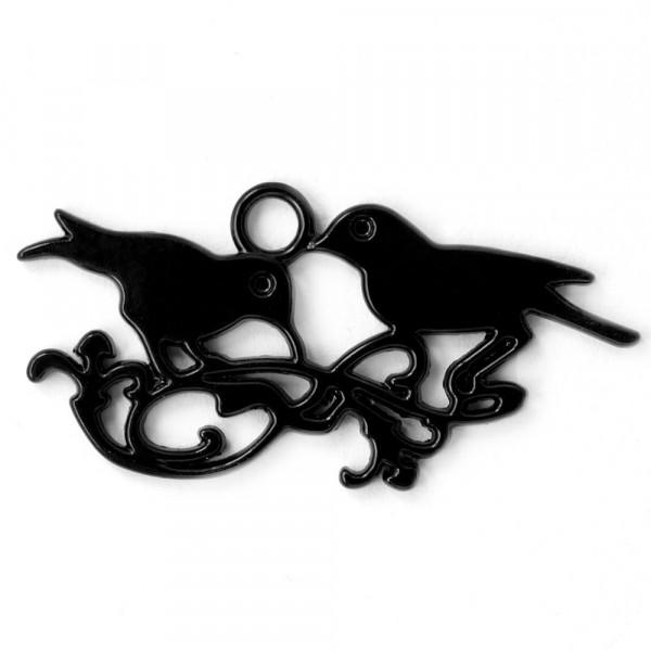Anhänger Schmuck Vögel Ranken schwarz kaufen