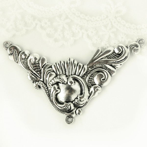 Schmuckornament, Ornament, Vintage, Kette, Mengenrabatt, einzeln, gothic, barock, viktorianisch, schoker, kette, großhandel, diy, selber machen, nickelfrei
