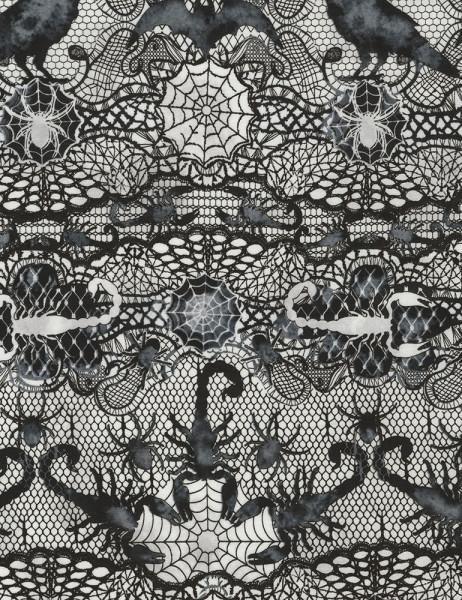 Baumwollstoff Spider Lace