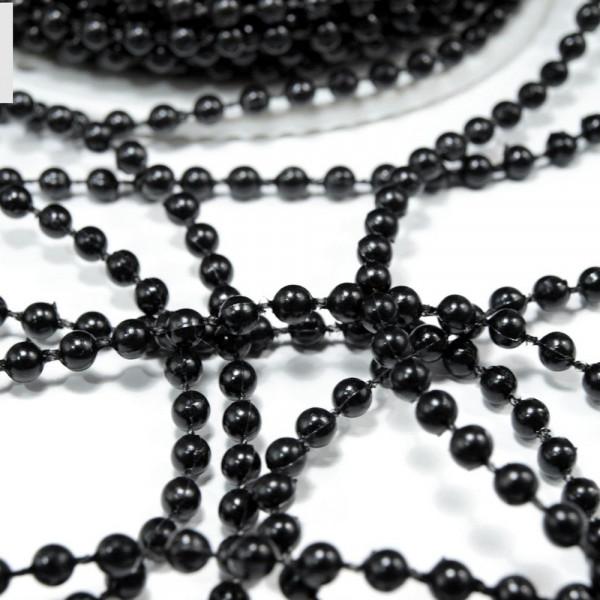 Perlenkette Band Kette schwarz günstig kaufen basteln meterware