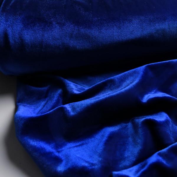 Stretch Samt leuchtend Mittelblau