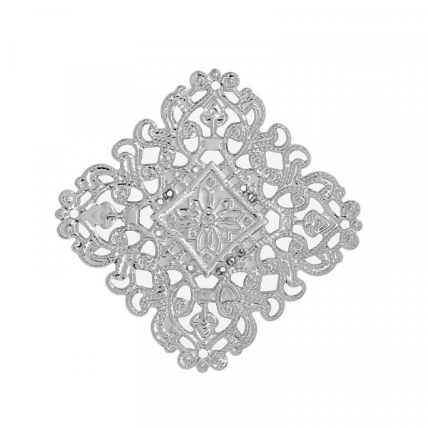 10 Biegs. Metallornamente 40mm Silber