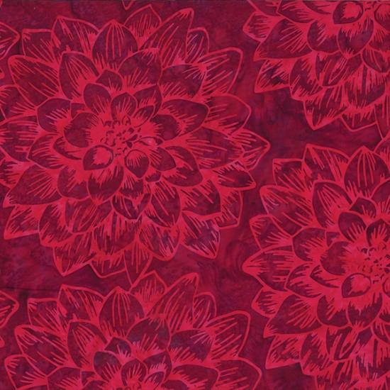Rest Webware Blumen Rot Handgefärbt