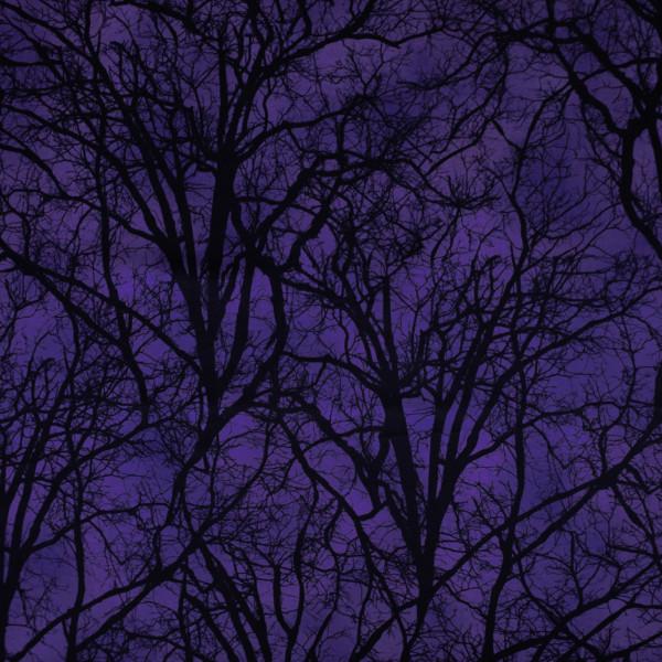 """Baumwollstoff """"Darkest Sky"""" Wald Lila"""