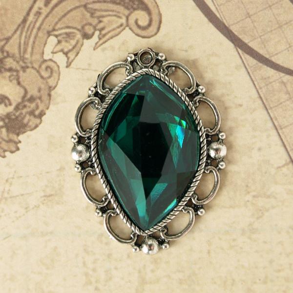 Juwelen V Silber / Dunkelgrün
