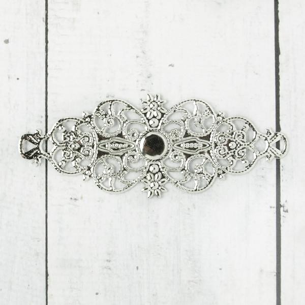 10/50 Biegsame Metallornamente Silber 63mm