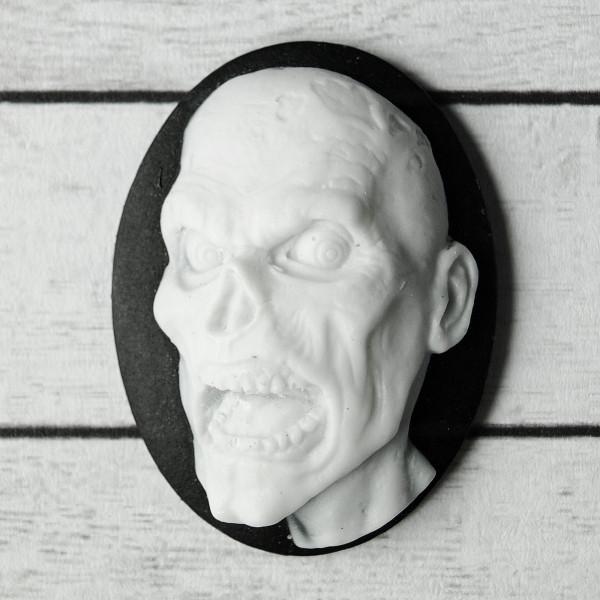 zombie schädel kamee dead resin schmuck goth diy mateial