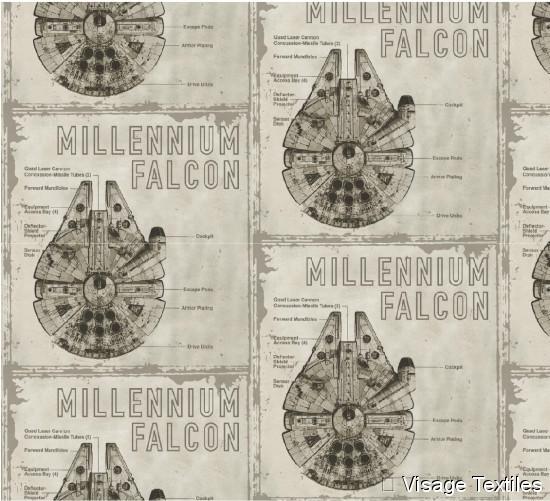 Baumwollstoff Millenium Falcon