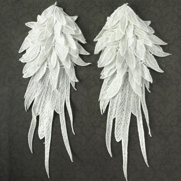 1 Paar Flügel 3D Weiß