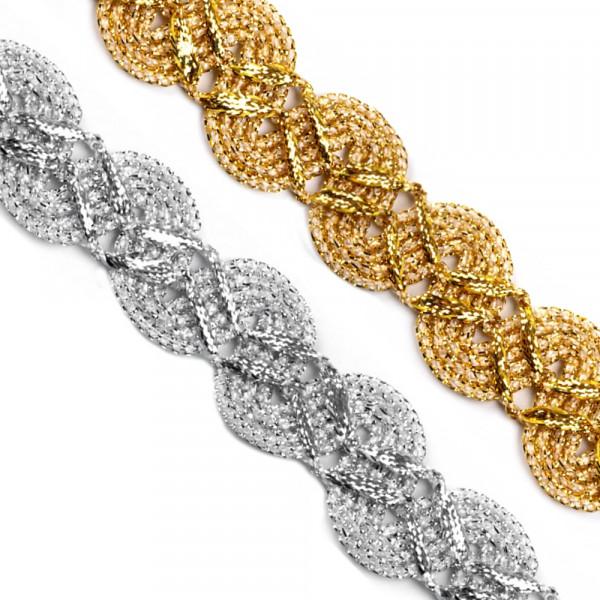 Borte leonisch kaufen silber gold 25mm