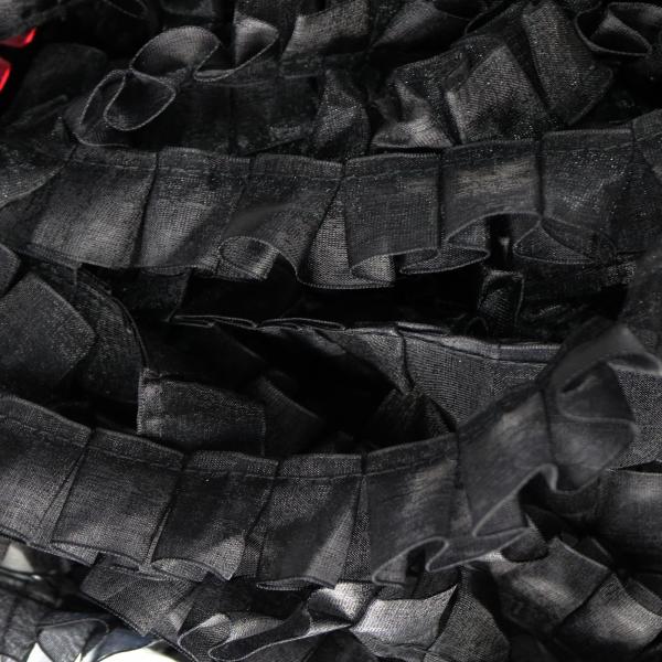 Rüschenborte schwarz 2,5cm Organza