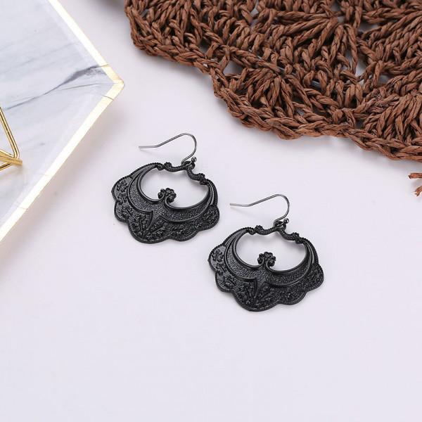 Ohrringe Paar schwarz 45mm