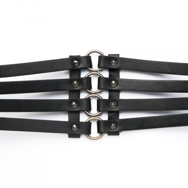 Gürtel Schwarz Ringe Schwarz