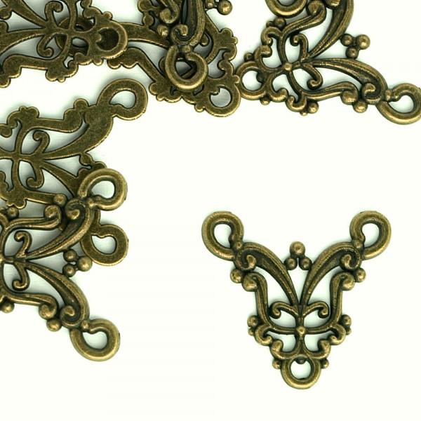 Ornament altmessing schmuckverbinder ziseliert kaufen schmuck teil diy basteln