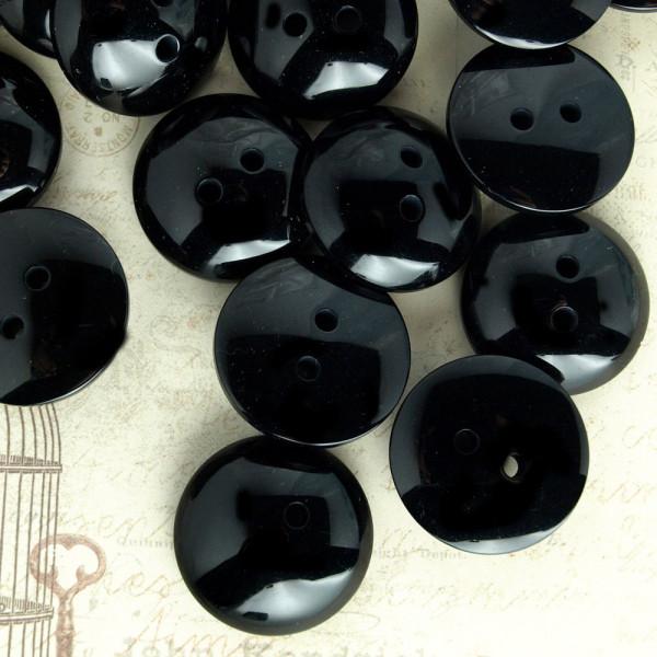 Advent 25mm Kunststoff Knopf schwarz