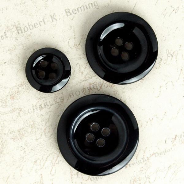 Knopf schwarz basic
