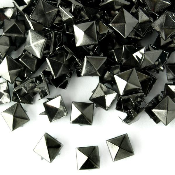 Nieten Pyramidennieten schwarz Metall 8mm 50 100 pack günstig Deutschland