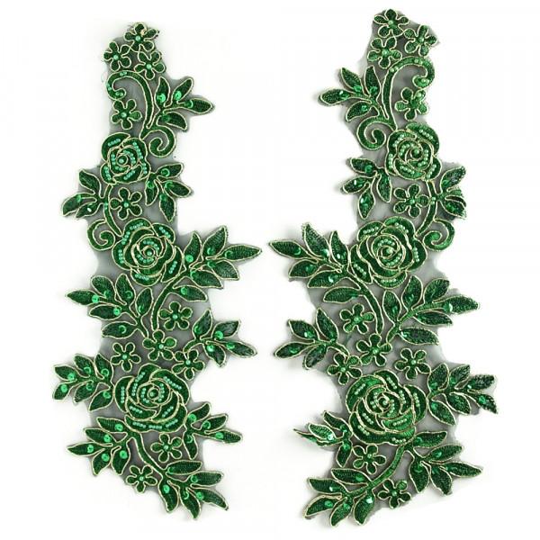 1 Paar Spitzenapplikationen XXL Grün