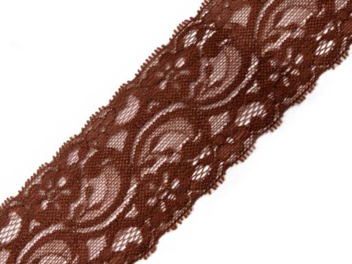 Spitze elastisch Braun 55mm