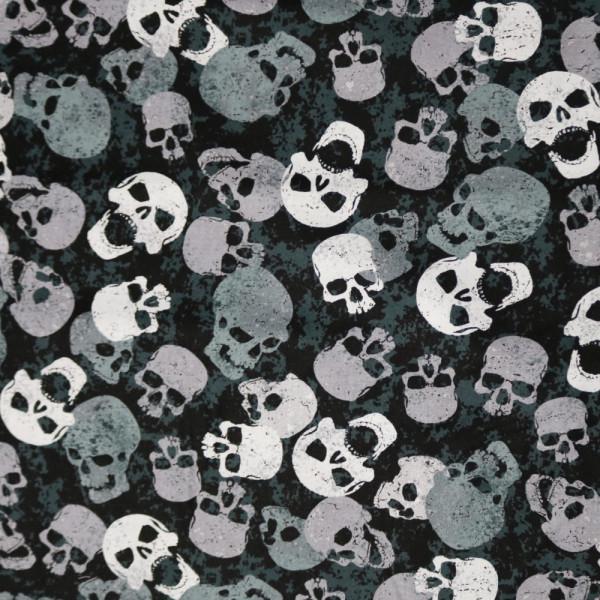 Webstoff Scary Skulls Totenkopf