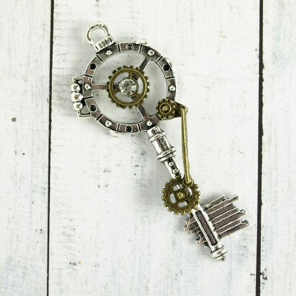 Schlüssel Anhänger Steampunk Schmuck basteln