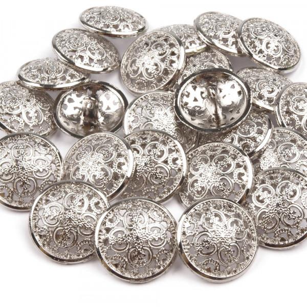 Metallknopf ornament ziseliert