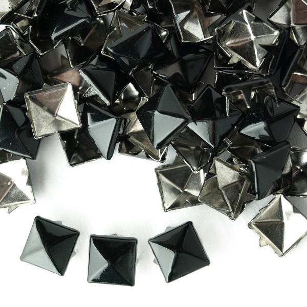 Nieten Pyramidennieten Schwarz 8mm Mengenrabatt 50 100