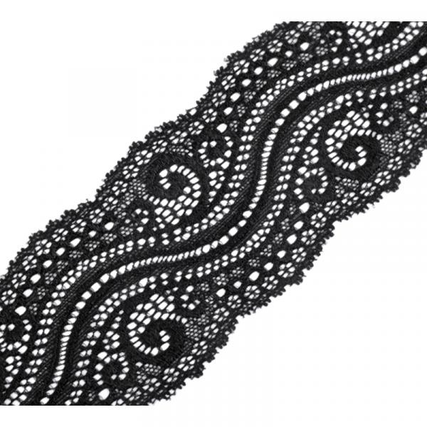 Elastische Spitze 65mm Schwarz
