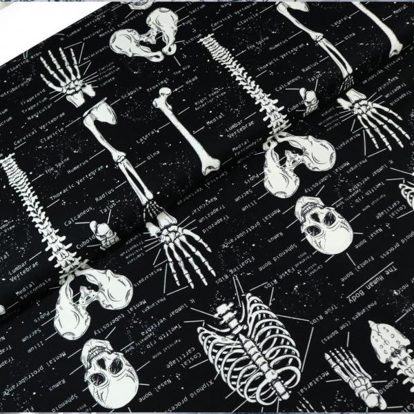 Baumwollstoff Anatomie Glow in the Dark