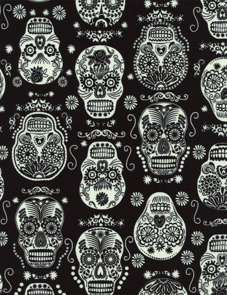Sugar Skulls Glow in the dark