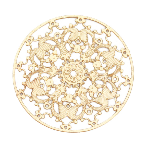 Filigree Ornament 25mm goldfarben