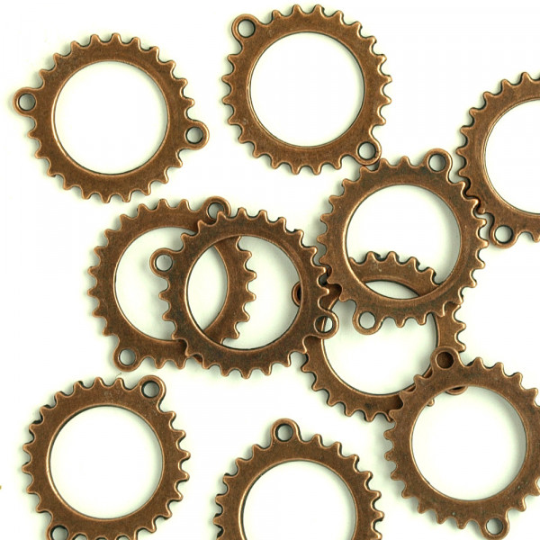10 Zahnrad Verbinder Kupfer 26mm XX