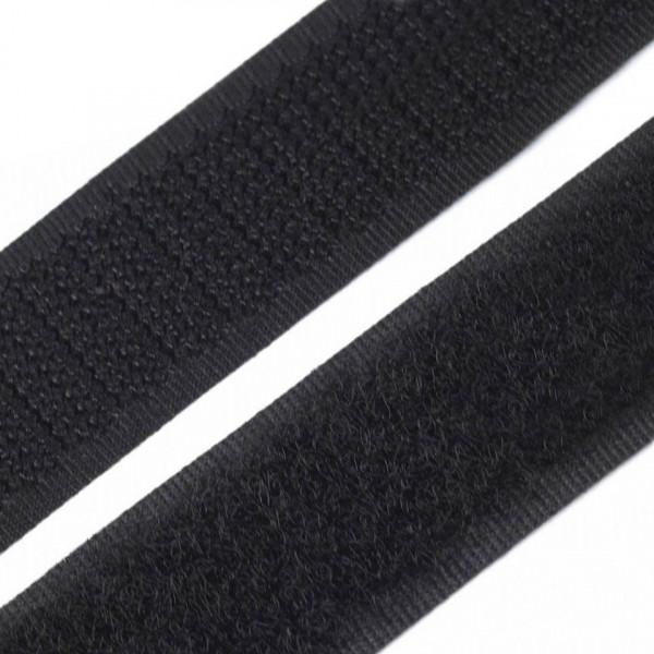 1m Klettverschluss Breite 16mm Schwarz
