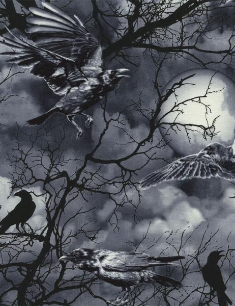 Patchworkstoff Crows