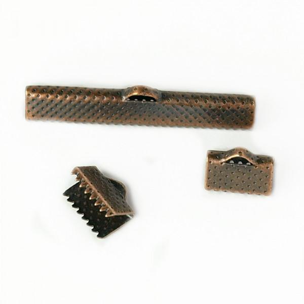Kupfer, klemme, quetsch, erle, fassung, bänder, zubehör, schmuck, material, billig, Deutschland