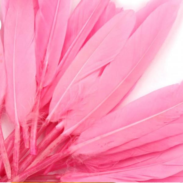 20 Entenfedern basteln rosa
