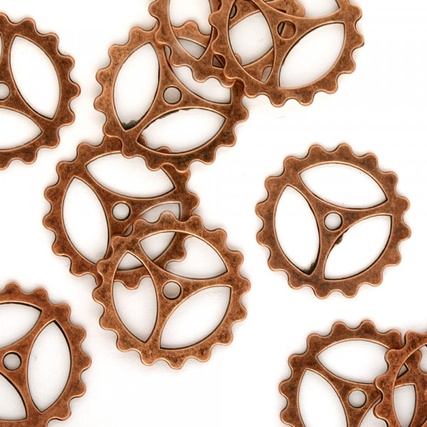 10 Steampunk Zahnräder II Kupfer