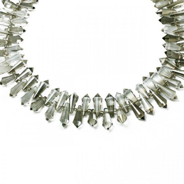 Kristall Perlen 15*6mm Grau