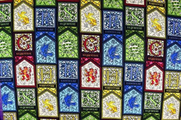 Baumwollstoff Harry Potter Stained Glass
