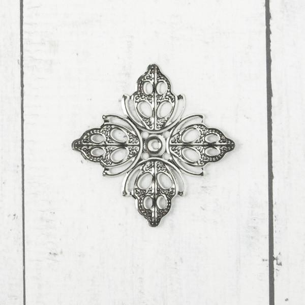 10/50 Biegsame Metallornamente Silber 38mm