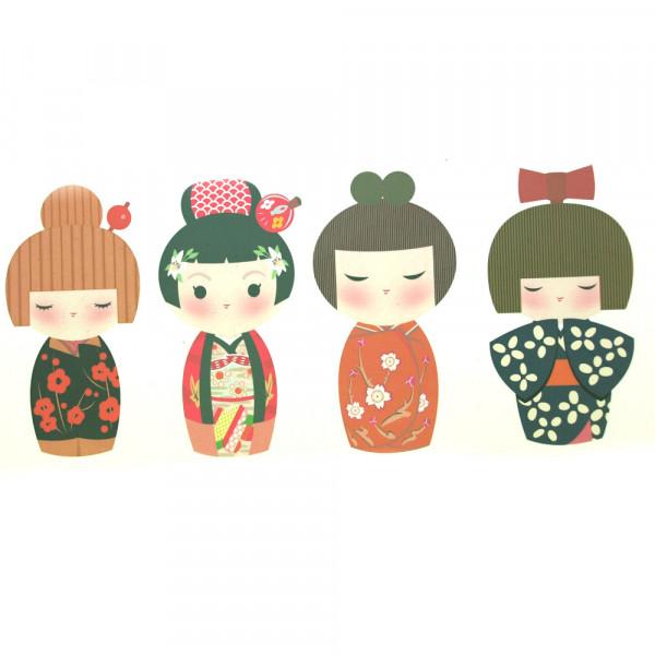 Bügelbilder 4 Asia Girls