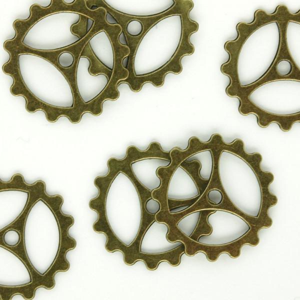 Zahnrad Steampunk Pack Altmessing Basteln Uhrenteile Schmuck Modellbau