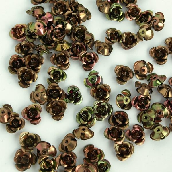 metallrosen röschen braun kaufen günstig 100 stück material schmuck