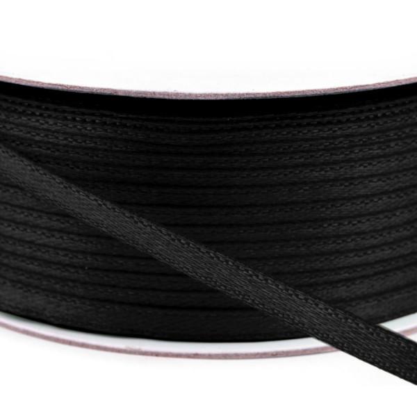 100m Rolle Satinband schwarz 3mm