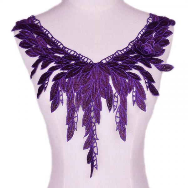 Kragen Applikation Mystic Violett