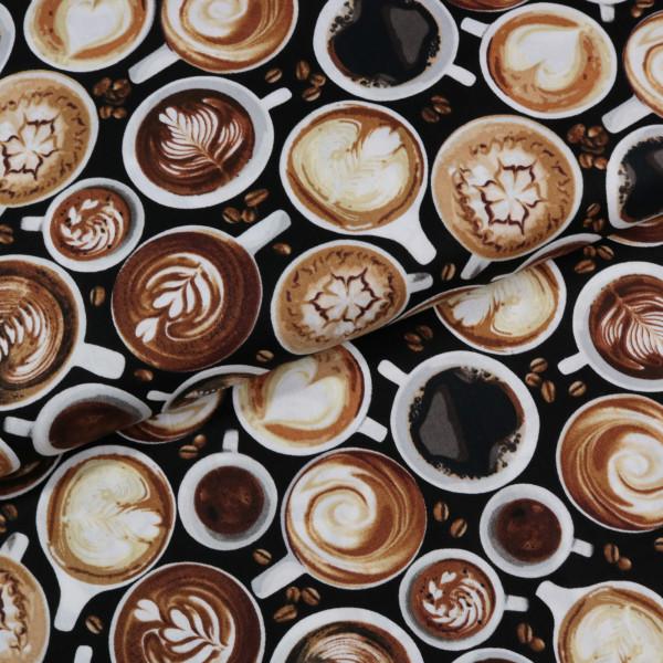 Baumwollstoff Kaffee Tassen