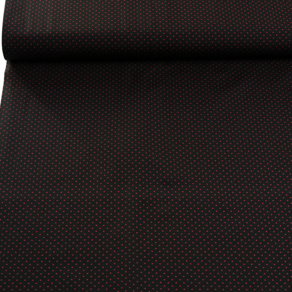 Webware, punktew, meterware, polka, weinrot, schwarz, rot