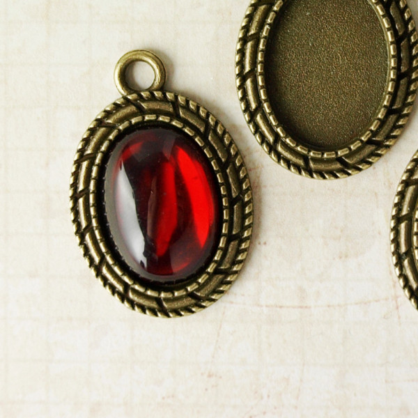 10 Cabochons S Rot